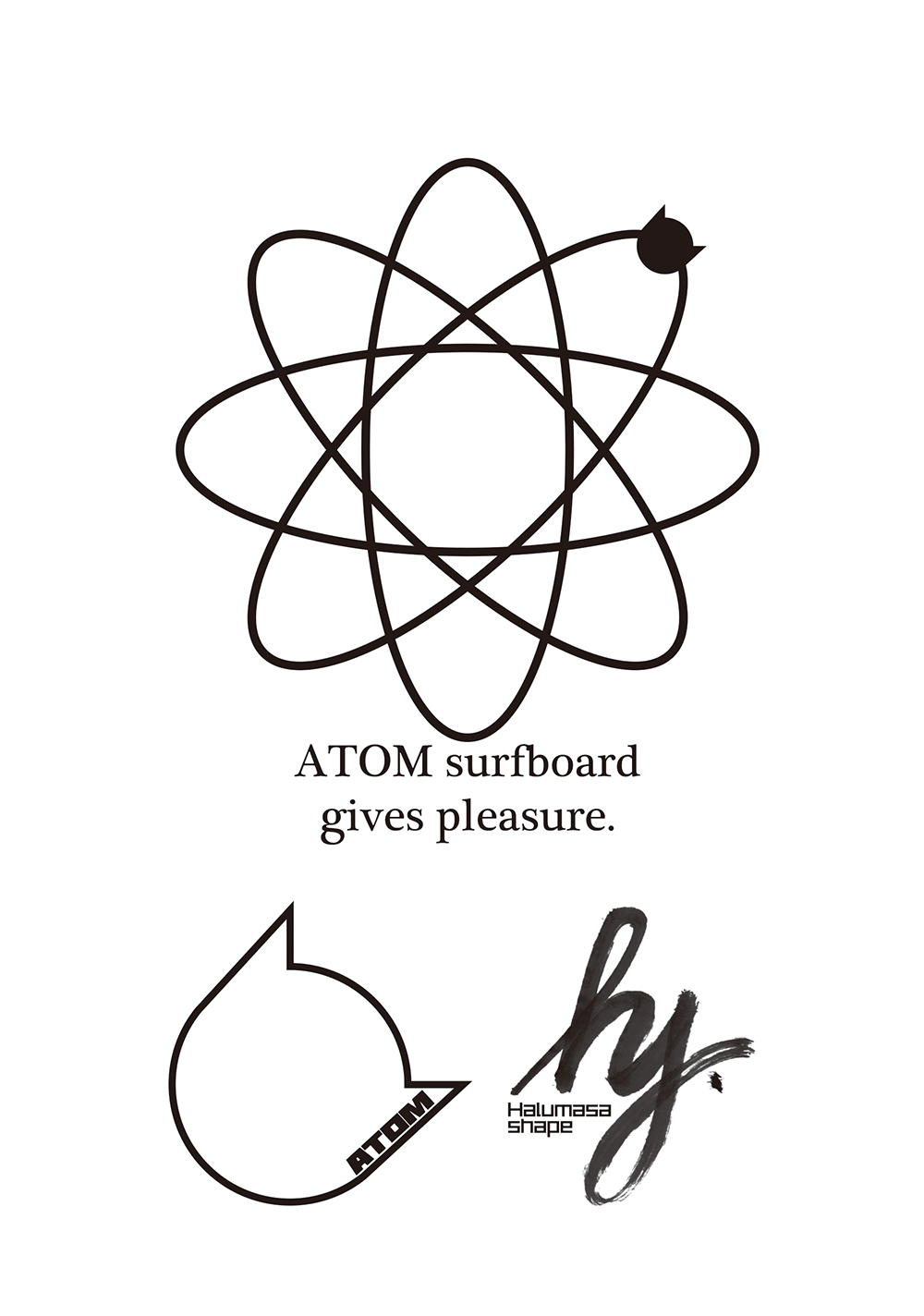 ATOM Surfboard gives pleasure.