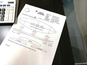ATOM Surfboard AKU Shaper Data Sheet