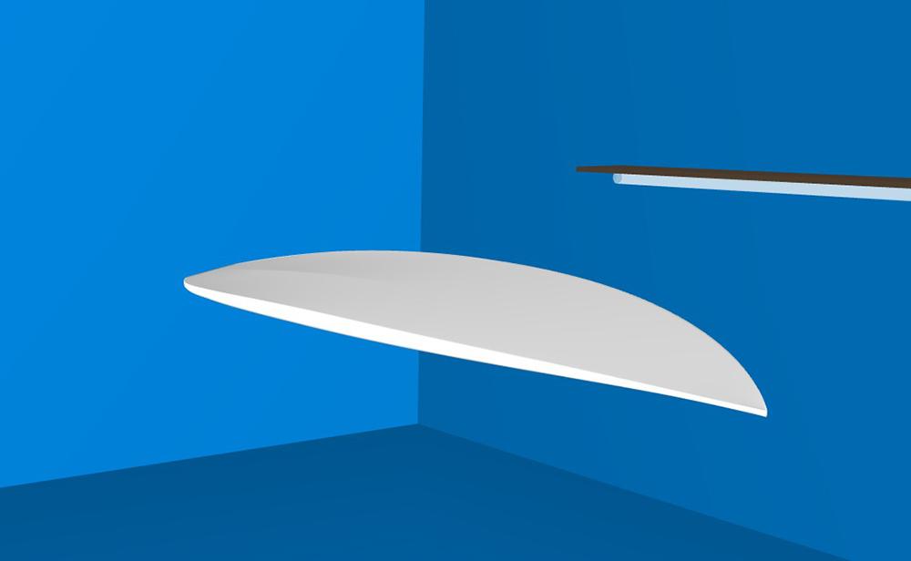 ATOM Surfboard Strider model bottom view